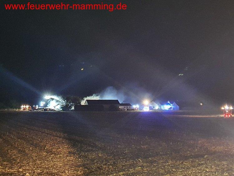 Brand landwirtschaftliche Scheune, 06.10.2020